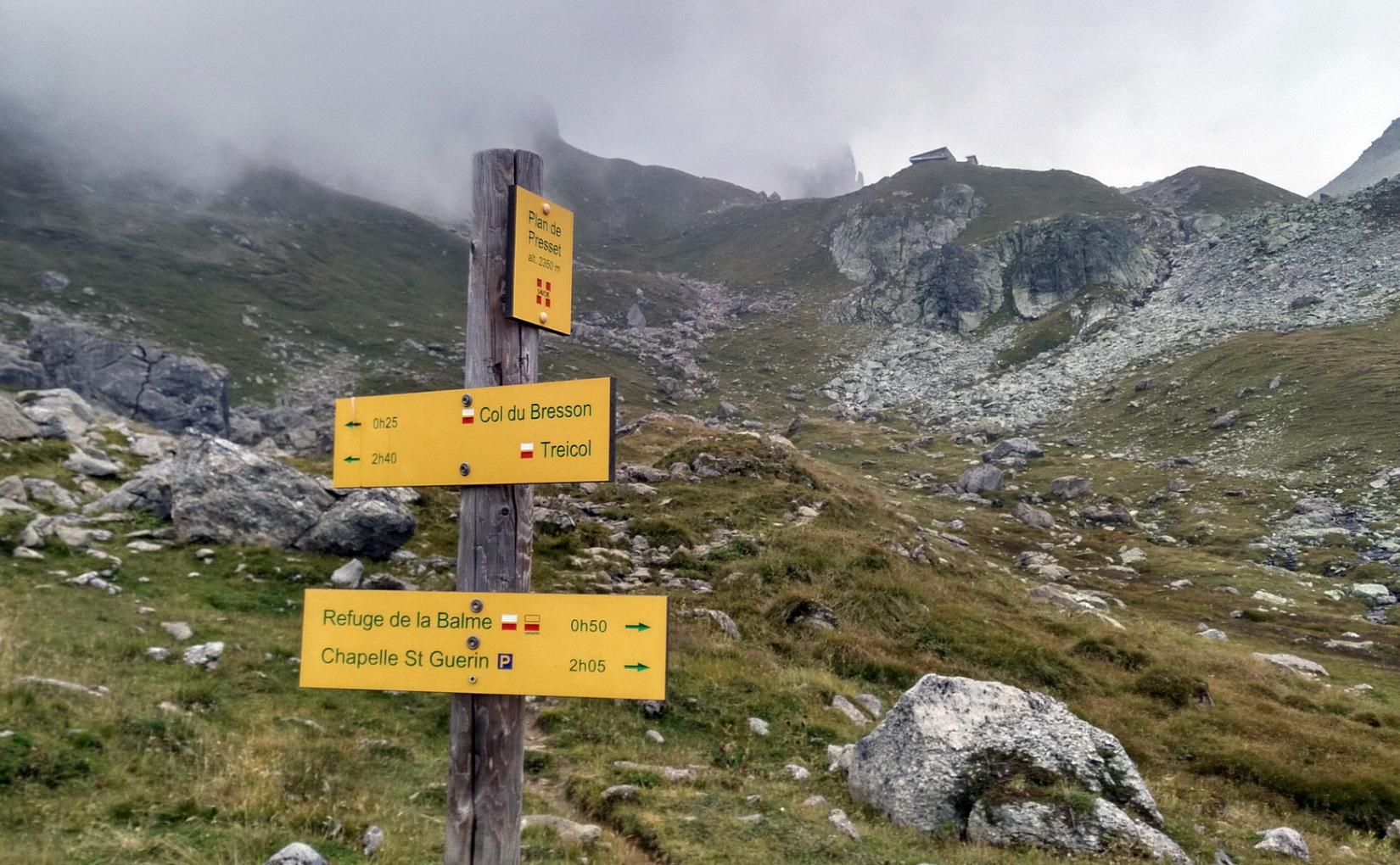 MT 10.9 Refuge de Presset > Aime-la-Plagne (Savoyen)